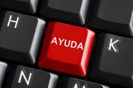 la tecla enter de un teclado, rotulada con la palabra ayuda
